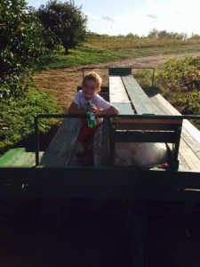 8th generation enjoying the wagon ride to the pumpkin patch.